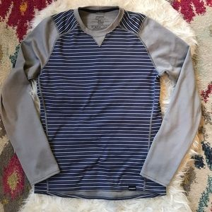 Patagonia Capilene Midweight Crew Striped Mens S